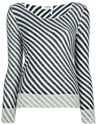 Sonia Rykiel Sonia By asymmetric stripe sweater