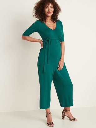 Old Navy Maternity Tie-Belt V-Neck Jumpsuit