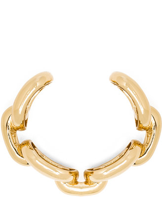 Jennifer Fisher XL Chain Link Cuff in Brass