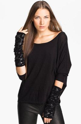 Rachel Zoe Stretch Sequin Arm Warmers