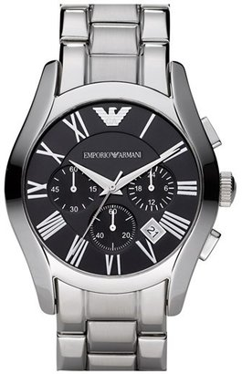 Emporio Armani Stainless Steel Chronograph Watch, 43mm