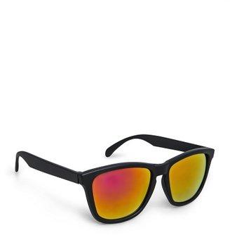 MANGO Mirrored lens squared sunglasses