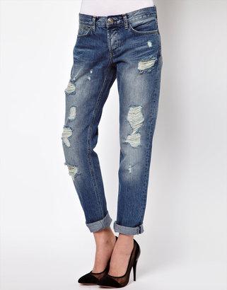 Asos Vintage Wash Slim Boyfriend Jeans