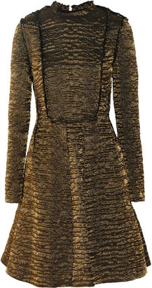 Lanvin Metallic brocade A-line dress