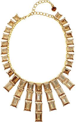Kenneth Jay Lane Gold-plated Swarovski crystal necklace
