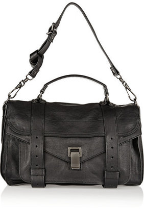 Proenza Schouler - The Ps1 Medium Leather Satchel - Black $1,780 thestylecure.com