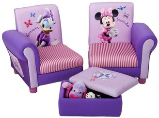 Disney Minnie Mouse 3Pc Upholstered Sectional Set