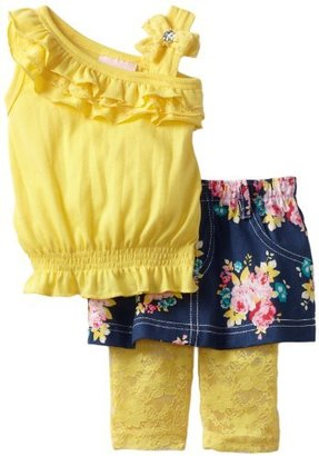 Little Lass Baby-girls Infant 3 Piece Smocked Skirt Set