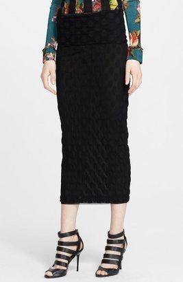 Jean Paul Gaultier Flocked Midi Skirt