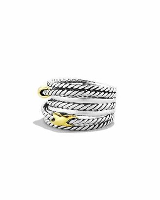 David Yurman Double X Crossover Ring $450 thestylecure.com