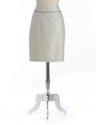 Ivanka Trump Metallic Tweed Pencil Skirt