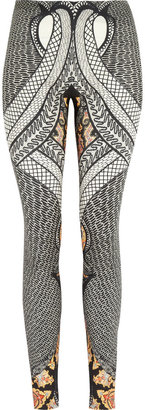 Etro Printed stretch-silk leggings