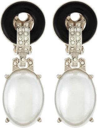 Kenneth Jay Lane Pearly Drop Clip-On Earrings