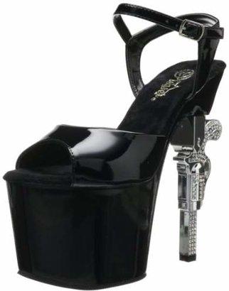 Pleaser USA Women's Revolver-709 Ankle-Strap Sandal