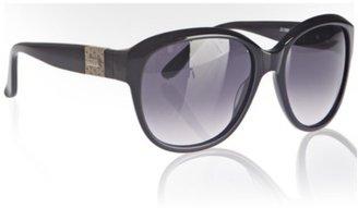 Chloé ivory striped plastic oversized sunglasses
