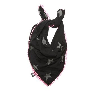 Nununu - Kid's Star Scarf - Black