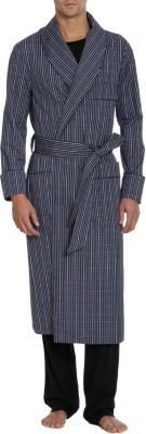 Barneys New York Multi-Check Robe