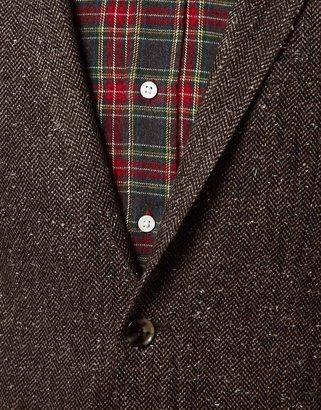 Asos Slim Fit Suit Jacket in Fleck Herringbone