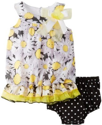 Bonnie Baby Baby-Girls Infant Print Bubble Dress