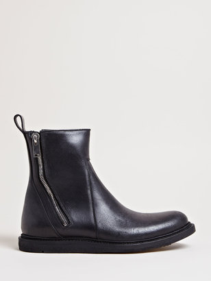 Rick Owens Men's Brushed Leather Boots