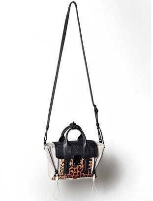 3.1 Phillip Lim Mini Pashli Satchel In Natural Leopard Calf Hair