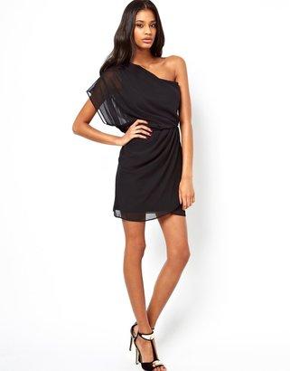 Asos Mini Dress With Drape One Shoulder