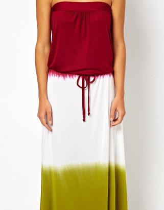South Beach Ombre Jersey Maxi Dress With Drawstring