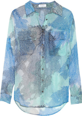 Equipment Slim Signature printed silk shirt