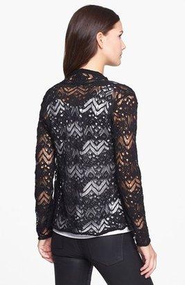 Eileen Fisher Lace Stitch Wool Cardigan