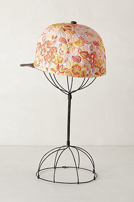Anthropologie Embroidered Floret Cap