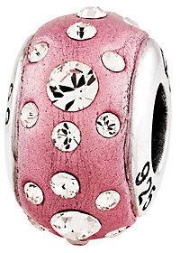 Prerogatives Sterling Pink Molded Swarovski Crystal Bead $38.50 thestylecure.com
