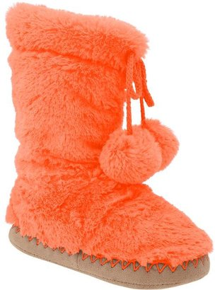 Old Navy Girls Cozy Pom-Pom Slippers