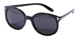 Oxford Black Round Sunglasses