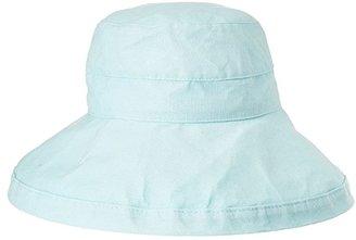 Scala Big Brim Cotton Sun Hat (Aqua) Caps