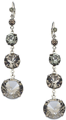 Roberta Chiarella Silver and Black Diamond Crystal Fairy Tale Earrings