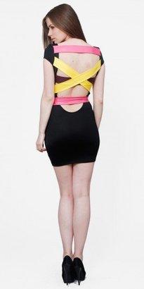eDressMe Color Block Club Dresses