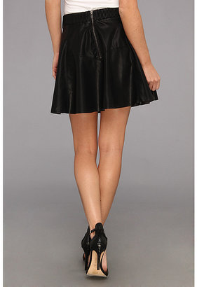 Blank NYC Vegan Leather Skater Skirt in Pussy Cat