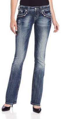 Miss Me Juniors Victorian Embellished Bootcut Jean