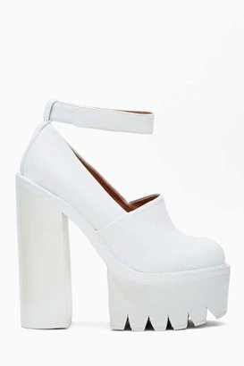 Jeffrey Campbell Scully Platform - White