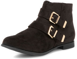 Dorothy Perkins Black buckle ankle boots