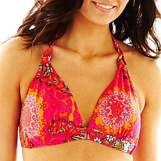 JCPenney a.n.a Pushup Banded Halter Swim Top