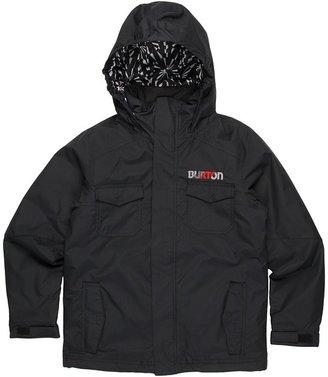 Burton Boys' Fray Jacket (Little Kids/Big Kids) (True Black) - Apparel