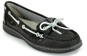 Sperry Angelfish - Black Sequin Boat Shoe