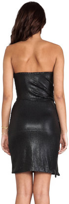 Halston Strapless All-Over Sequin Dress