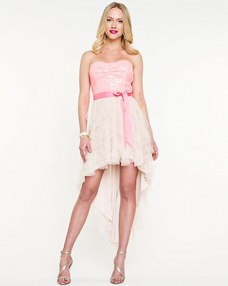 Le Château Sweetheart High-Low Dress