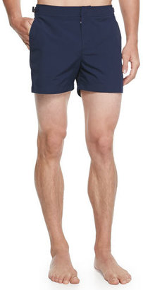 Orlebar Brown Setter Short-Length Swim Trunks, Navy $230 thestylecure.com