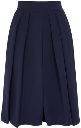 High In A Spin Navy Wide-leg Culottes
