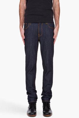 Nudie Jeans Thin Finn Dry Ecru Embo Jeans