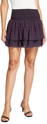 Ramy Brook Juniper Printed Tiered Skirt