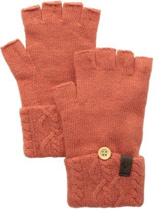 True Religion Women's Cable Knit Fingerless Glove